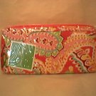 Vera Bradley Travel Organizer zip around wallet in Capri Melon  Retired NWT