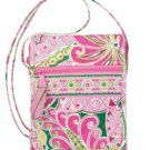 Vera Bradley Mini Hipster crossbody bag Pinwheel Pink NWT Retired swing travel wallet on string