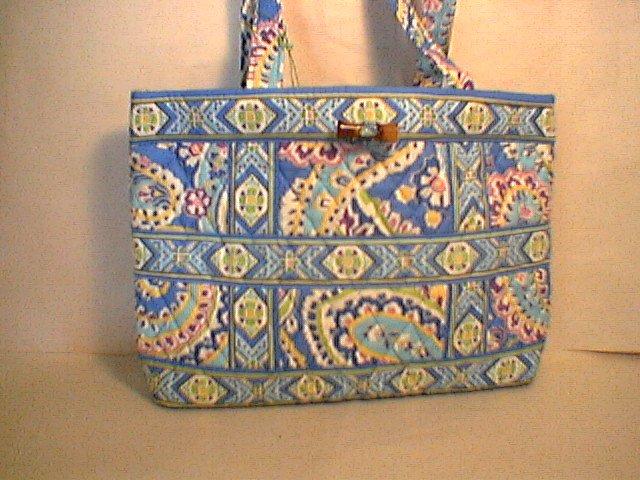 ba240c47ef40 Vera Bradley Small Tic Tac Tote handbag Capri Blue NWT Retired nice for  e-reader