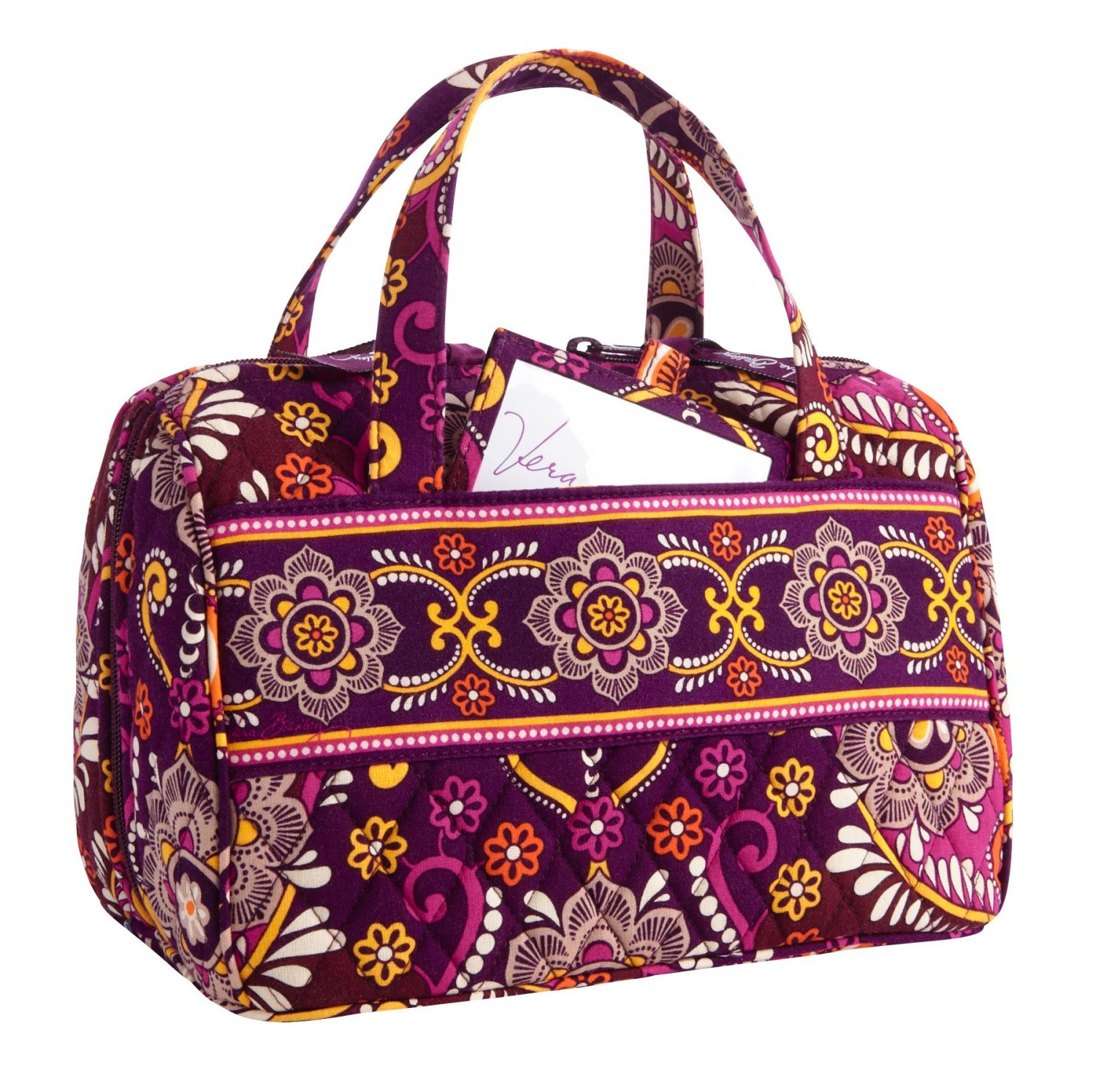 407d498fad Vera Bradley Lunch Date Safari Sunset Retired NWT insulated travel cosmetic  case bottle bag
