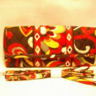 Vera Bradley Sleek Wallet Puccini travel organizer convertible crossbody clutch NWT Retired