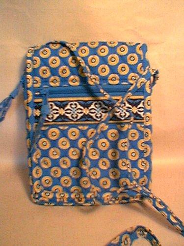 Vera Bradley Mini Hipster crossbody bag Riviera Blue NWT Retired - swing bag, wallet on string