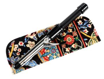 Vera Bradley Curling Iron flatbrush Cover Versailles  NWT Retired straighten up curl
