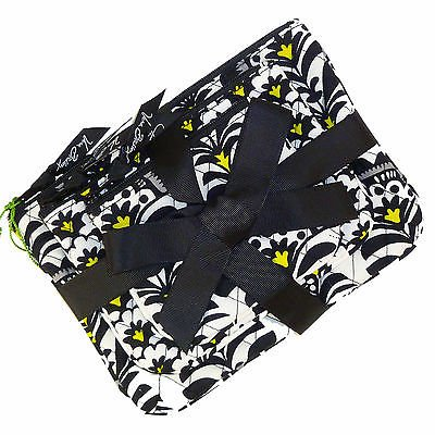 Vera Bradley Cosmetic Trio Fanfare travel cosmetic tech mini tablet packing cases  Retired NWT