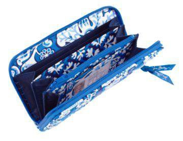 Vera Bradley Accordian Wallet Blue Lagoon travel organizer clutch NWT Retired
