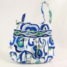Vera Bradley Hannah Mediterranean White Retired NWT  small purse tech case girls