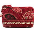 Vera Bradley Small Cosmetic Mesa Red NWT Retired makeup tech travel case