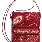 Vera Bradley Mini Hipster Mesa Red crossbody shoulder bag travel organizer wallet NWT Retired
