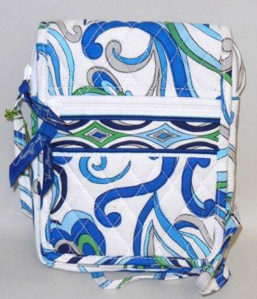 Vera Bradley Mini Hipster Mediterranean White crossbody shoulder bag travel organizer  NWT Retired