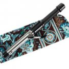 Vera Bradley Curling Iron flatbrush Cover Java Blue  NWT Retired straighten up curl turquoise
