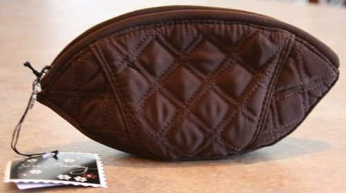 Vera Bradley Crescent Cosmetic Espresso microfiber NWT Retired  travel cosmetic tech case