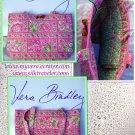 Vera Bradley Small Tic Tac Tote handbag Petal Pink NWT Retired /nice for e-reader, tablet
