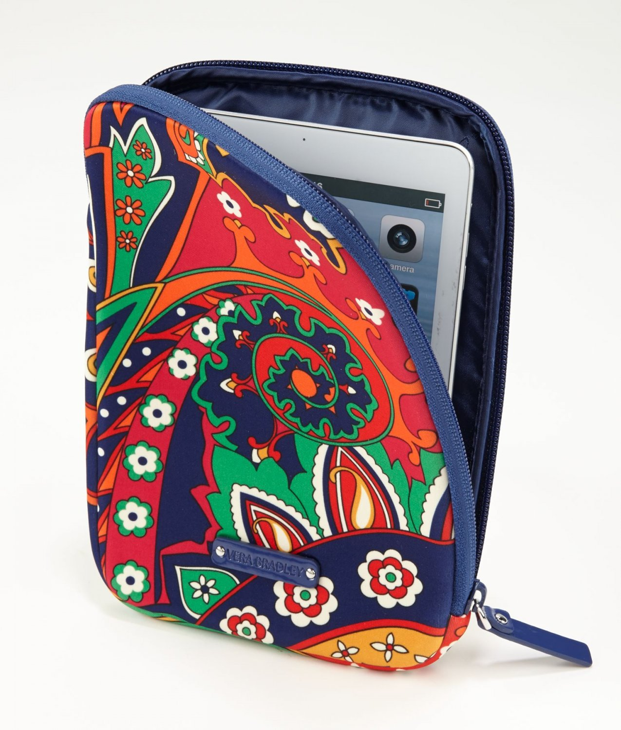 Vera Bradley Neoprene Tablet Sleeve  Venetian Paisley NWT reader iPad case packing cube