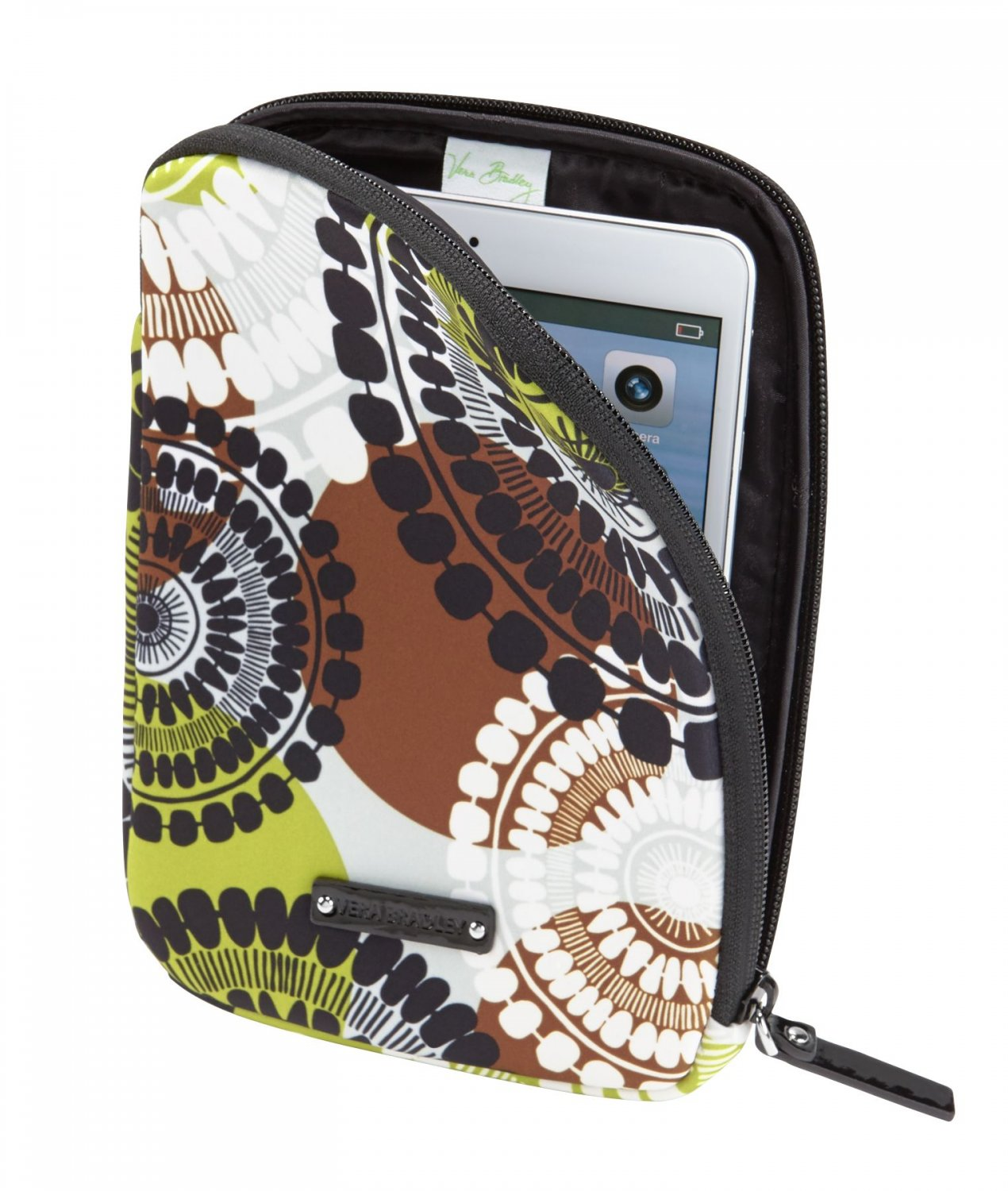 a1fd8c4a33 Vera Bradley Neoprene Tablet Sleeve Cocoa Moss NWT Retired packing cube  iPad case