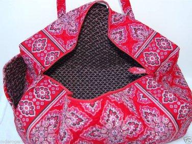 Vera Bradley Small Duffel Frankly Scarlet NWT Retired satchel gym bag