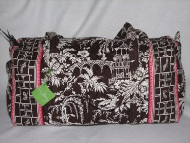 Vera Bradley Large Duffel Imperial Toile satchel weekender overnighter carryon NWT Retired RARE