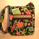 Vera Bradley Hipster Botanica  crossbody shoulder bag Retired NWT tablet tech