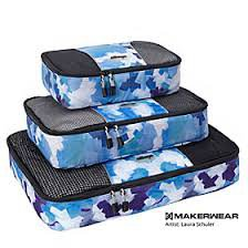 eBags Packing Cubes set/3 Blue Watercolor NWT LE  packing aids travel cosmetic tech cases