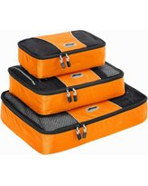 eBags Packing Cubes set/3 S,M,L Tangerine NWT travel cosmetic tech luggage case