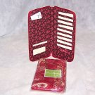 Vera Bradley Travel Organizer  Mesa Red  Retired NWT wallet document  holder