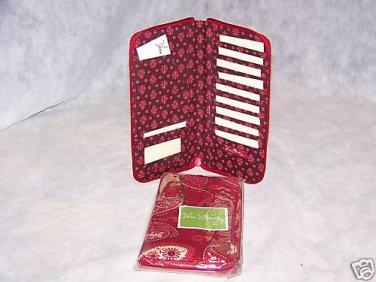 Vera Bradley Travel Organizer  Mesa Red  Retired NWT wallet document  holder