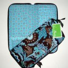 Vera Bradley Travel Organizer zip around wallet  Java Blue original  Retired NWT document holder