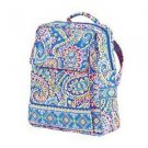Vera Bradley Large Backpack Capri Blue  Retired NWT travel weekender overnighter satchel