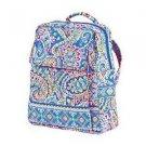 Vera Bradley Large Backpack Capri Blue  Retired NWT travel weekender overnighter satchel