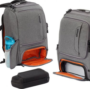 eBags Professional Slim Laptop Backpack in Heathered Graphite gray  NWT carryon  organizer
