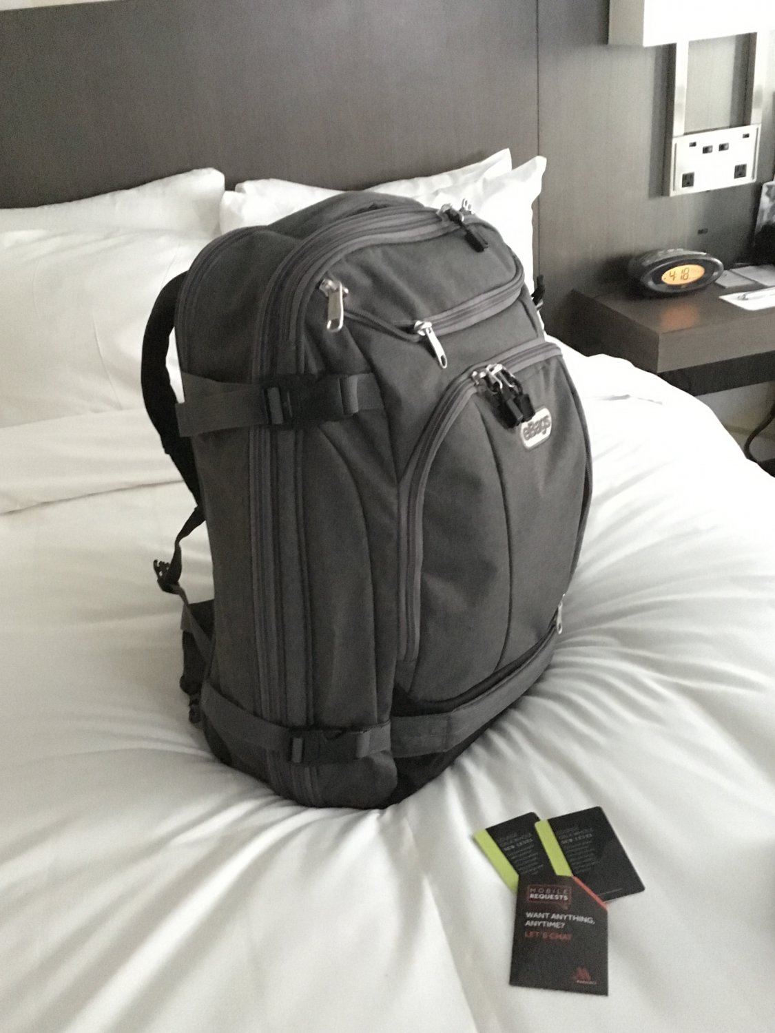 eBags TLS Mother Lode Weekender Convertible Jr Backpack Heathered Graphite grey NWT