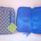 Vera Bradley Riviera Blue Zip Around Wallet clutch organizer passport holder Retired