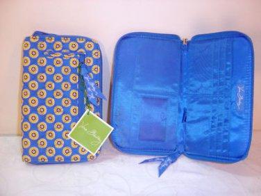 Vera Bradley Riviera Blue Zip Around Wallet clutch organizer passport holder Retired