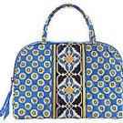 Vera Bradley Riviera Blue  Purse Cosmetic travel case makeup bag Retired