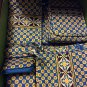 Vera Bradley Riviera Blue  Purse Cosmetic travel case makeup bag Retired