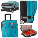 "eBags TLS Mother Lode 21"" Mini Wheeled Duffel in Tropical Turquoise NWT rolling luggage carry-on"