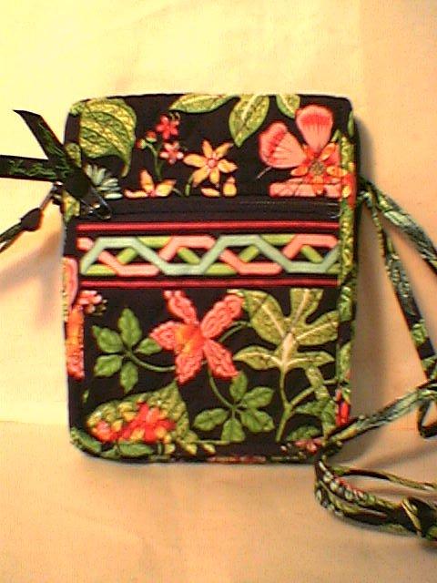 Vera Bradley Mini Hipster Botanica NWT Retired crossbody travel organizer wallet on string