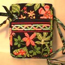 Vera Bradley Mini Hipster Botanica NWT Retired crossbody travel organizer wallet on string
