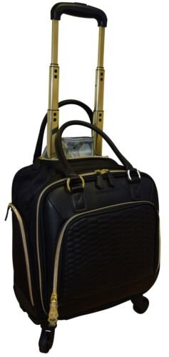Aimee Kestenberg Florence 13 inch Underseater travel case  NWT spinner carryon luggage black
