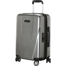 eBags Allura 22 inch Hardside Carry On rolling spinner NWT luggage Silver polycarbonate