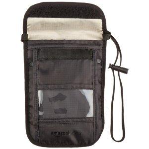Travel Neckstash RFID Amazon Basics crossbody hanging ID wallet on string