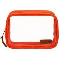 Flight 001 Aeronaut Clear Quart Bag TSA travel 3-1-1 quart toiletry case Orange