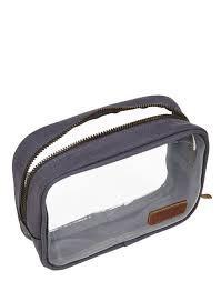 Flight 001 aeronaut Clear Qt Bag charcoal TSA travel 3-1-1 quart toiletry case