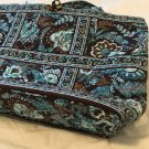 Vera Bradley Tic Tac Tote Large original Java Blue XL beachbag overnighter Retired