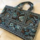 Vera Bradley Tic Tac Tote Large original Java Blue XL beachbag overnighter Retired
