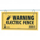 108 SIGN LOT FOR ELECTRIC FENCE-36 PACKAGES OF 3 PACK DARE WIRE WARNING-YELLOW POLY-NEW