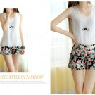 spring Slim thin sweet pastoral style floral print shorts shorts