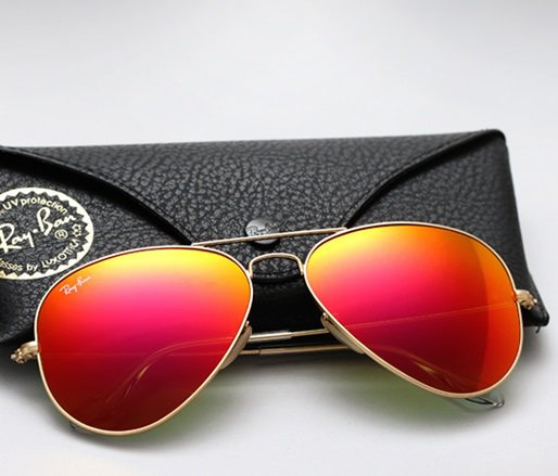 Ray Ban Aviator RB3025 Sunglasses 112/69 Matte Gold with Orange Mirror Lens