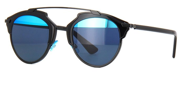 Christian Dior So Real Sunglasses In Black and Blue Lens B0YY0