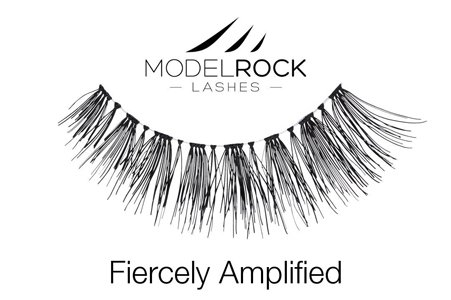 Model Rock Lashes- Fiercely Amplified - Everyday Glamor Looking Eye Makeup