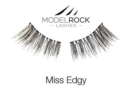 Soft Natural False Eyelashes -Miss Edgy-  for small eyes